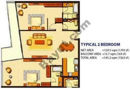 2 Bedroom (Type 1)