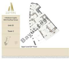 2BR - Upper Level 20 Floor