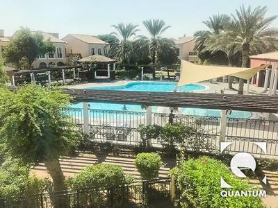 3 Bedroom Townhouse for Rent in Green Community, Dubai - Bills Included|By Entrance|Backing  Pool