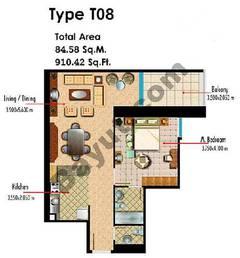Type T08 1 Bedroom