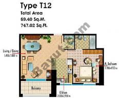 Type T12 1 Bedroom
