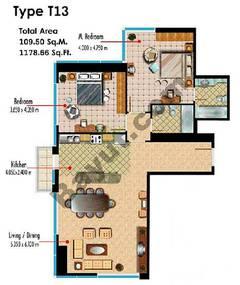 Type T13 2 Bedroom