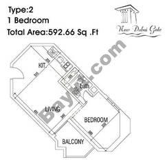 Type 02 1 Bedroom