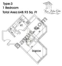 Type 03 1 Bedroom