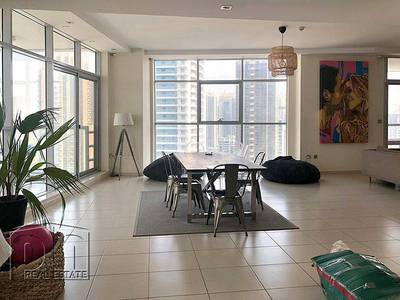 4 Bedroom Flat for Rent in Dubai Marina, Dubai - Huge High Floor Fully Furnished 4BR + Maid