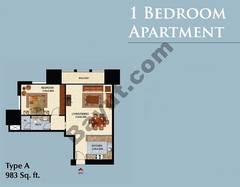 Type A 1 Bedroom Apt