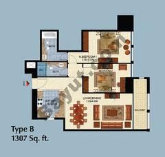 Type B 2 Bedroom Apt