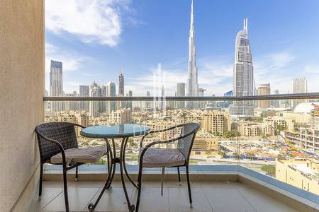 2 Bedroom Apartment for Rent in Downtown Dubai, Dubai - Fully Furnished 2 BR with Full Burj View