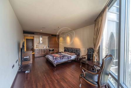 Studio for Sale in Downtown Dubai, Dubai - Middle Floor | Opera and Sea View | Vacant