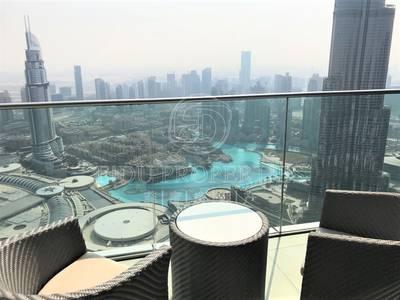 4 Bedroom Apartment for Rent in Downtown Dubai, Dubai - B/Khalifa and Fountain View | High Floor