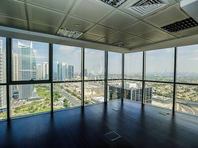 Office for Rent in Jumeirah Lake Towers (JLT), Dubai - Fitted corner unit with impressive views