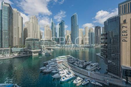 1 Bedroom Apartment for Rent in Dubai Marina, Dubai - Immaculate 1 Bedroom with Full Marina View