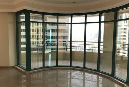 3 Bedroom Flat for Rent in Dubai Marina, Dubai - Panoramic view - Unfurnished - Fully Fitted Kitchen