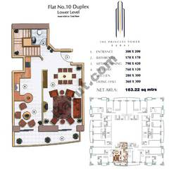 Floors (65-72) Flat 10 Duplex Lower Level 2Bedroom