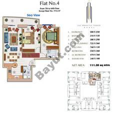 Floors (7-64) Flat 4 2Bedroom Except Floor (19,47)