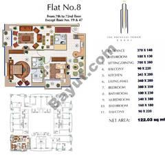 Floors (7-72) Flat 8 2Bedroom Except Floor (19,47)