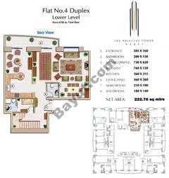 Floors (65-72) Flat 4 Duplex Lower Level 4Bedroom
