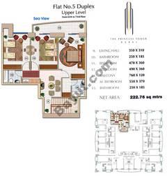 Floors (65-72) Flat 5 Duplex Upper Level 4Bedroom