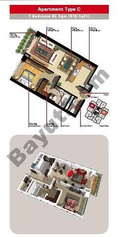 1 Bedroom Apartment Type C