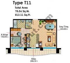 Type T11 1 Bedroom