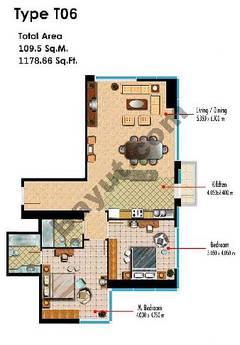 Type T06 2 Bedroom