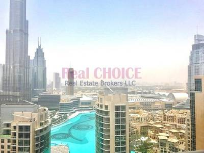 3 Bedroom Apartment for Sale in Downtown Dubai, Dubai - Burj Khalifa and Fountain View| High Flr