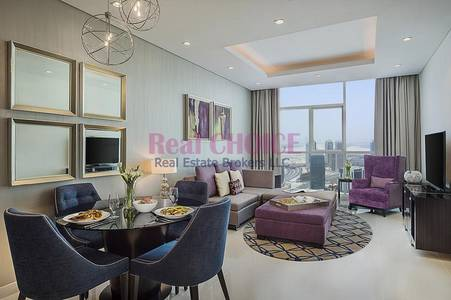 2 Bedroom Hotel Apartment for Sale in Downtown Dubai, Dubai - Furnished with Amazing Burj Khalifa View