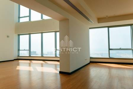 4 Bedroom Penthouse for Sale in Al Reem Island, Abu Dhabi - Full Seaview 4 BR Penthouse in Sky Tower