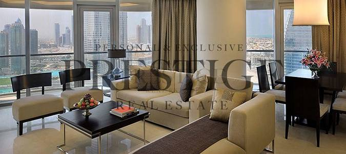 2 Bedroom Apartment for Rent in Downtown Dubai, Dubai - Fully Furnished|Burj Khalifa & Fountain View