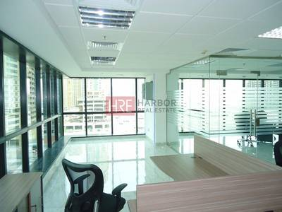Office for Rent in Jumeirah Lake Towers (JLT), Dubai - Fully Furnished and Partitioned Office