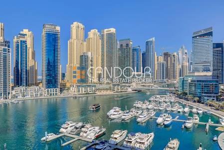 4 Bedroom Apartment for Sale in Dubai Marina, Dubai - Full Sea View |Spacious Living Room Apt