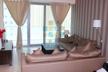 2 Bedroom Flat for Rent in Dubai Marina, Dubai - Modern f.furnished 2 Bed Partial Marina Partial Sea