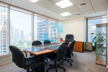 Office for Rent in Jumeirah Lake Towers (JLT), Dubai - Fully Fitted and Furnished Office for Rent at JLT Saba 1 Just 85k