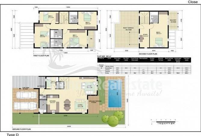 11 5 BR  Single Row  Villa  Desert  Village
