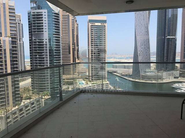 High floor 3 BR+Maids+Study+2 Parking Full Marina View