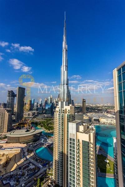 10 Nice Top Floor Apt with AC Free and Burj View