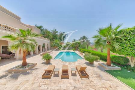 6 Bedroom Villa for Sale in Emirates Hills, Dubai - Exquisite Golf Course View Gem - Sector V
