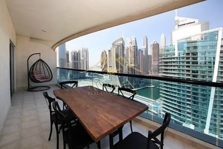 1 Bedroom Flat for Sale in Dubai Marina, Dubai - Full Marina View Close to Metro Furnished 1 Bedroom