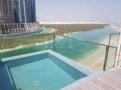 3 Bedroom Penthouse for Rent in Al Reem Island, Abu Dhabi - Seaview by the Beach 3B Penthouse+Jacuzi