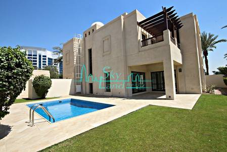 4 Bedroom Villa for Rent in Al Garhoud, Dubai - 2 MONTHS FREE - GOLF COURSE VIEW 4BR+MAIDS VILLA WITH A PRIVATE POOL