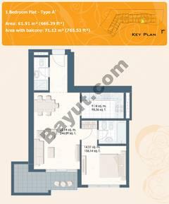 1 Bedroom Flat Type A-A