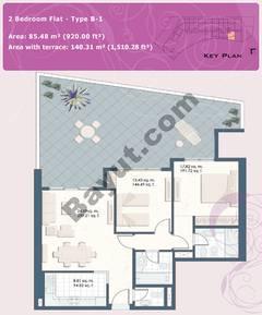 2 Bedroom Flat Type B-1