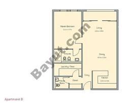 1 Bedroom Apt B Building Type 1