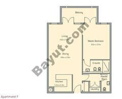 1 Bedroom Apt F Building Type 2