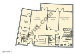 2 Bedroom Apt K Building Type 3
