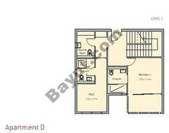 3 Bedroom Apt D Building Type 1 Level 1