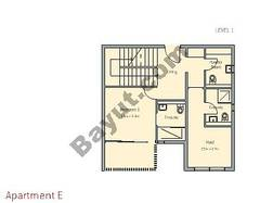 3 Bedroom Apt E Building Type 1 Level 1