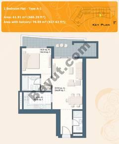 1 Bedroom Flat Type A-1