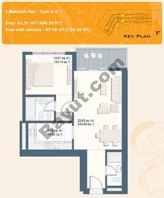1 Bedroom Flat Type A-3