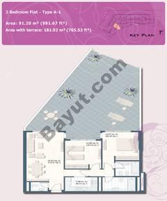 2 Bedroom Flat Type A-1